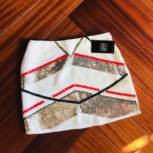NEW sequined mini skirt